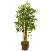 Nearly Natural 4.5' Bamboo Tree in Coiled Rope Planter (5826)
