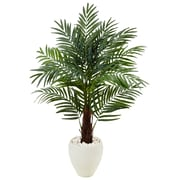 Nearly Natural 4.5' Areca Palm Tree in White Oval Planter (5985)