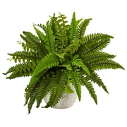 Nearly Natural Boston Fern in White Planter (6308)