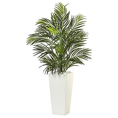 Nearly Natural Areca Palm in White Square Planter (6966)