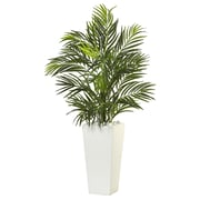 Nearly Natural Areca Palm in White Square Planter (6966)
