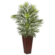 Nearly Natural Areca Palm in Bamboo Planter (6968)