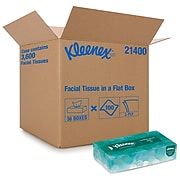 Kleenex Standard Facial Tissue, 2-Ply, White, 100 Sheets/Box, 36 Boxes/Pack (21400CT)