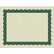 Great Papers Metallic 8.5 x 11 Certificates, Beige/Green, 100/Pack (934200)