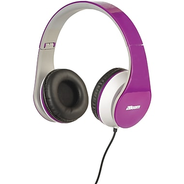 2BOOM HPM100PP Professional Sound Bluetooth Headphones, Purple