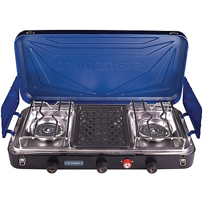 Stansport Outfitter Series 3-Burner Propane Stove, Blue (212-600-50)