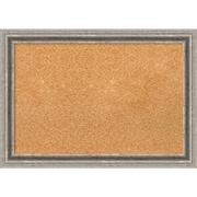 """Amanti Art Medium Bel Volto Silver 27""""W x 19""""H Framed Cork Board (DSW1418338)"""