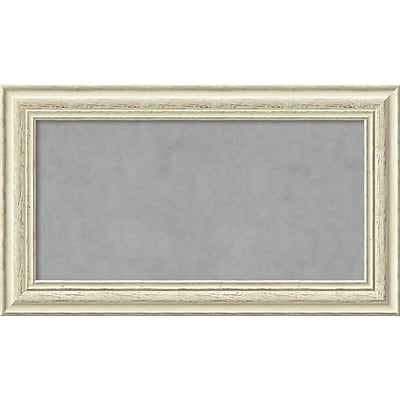 Amanti Art Framed Magnetic Board Medium Country White Wash 29