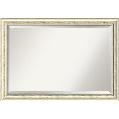 Amanti Art Wall Mirror Extra Large Country White Wash 41