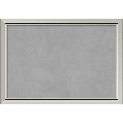 Amanti Art Framed Magnetic Board Extra Large Romano Silver 40