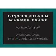 """Amanti Art Framed Liquid Chalk Marker Board Medium French Teal Rustic 26""""W x 18""""H Frame Teal (DSW3315548)"""