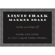 """Amanti Art Framed Liquid Chalk Marker Board Medium Dixie Grey Rustic 26""""W x 18""""H Frame Rustic Grey (DSW3315604)"""