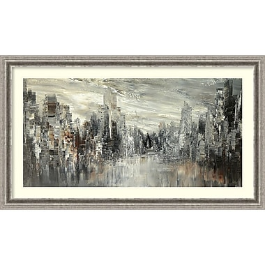 Amanti Art Framed Art Print City of the Century by Tatiana Iliina 43 x 25 Frame Silver (DSW3894363)