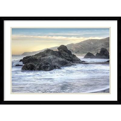 """""Amanti Art Framed Art Print Rodeo Beach Waves 4 by Alan Blaustein 29"""""""" x 21""""""""H, Frame Satin Black (DSW3894374)"""""" 24011094"