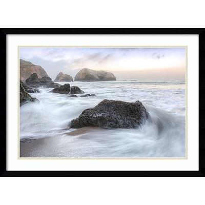 """""Amanti Art Framed Art Print Rodeo Beach Waves 2 by Alan Blaustein 29"""""""" x 21""""""""H, Frame Satin Black (DSW3894375)"""""" 24011086"