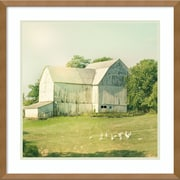 "Amanti Art Framed Art Print Farm Morning III Square (Barn) by Sue Schlabach 21""W x 21""H Frame Natural Maple (DSW3894394)"