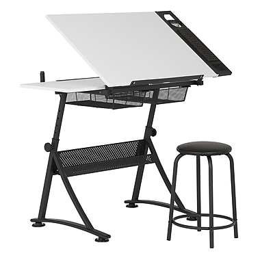 "Studio Designs 47.75""W Laminate Fusion Craft Center Drafting Table White (10102)"