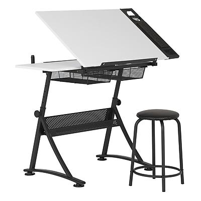 "Studio Designs 47.75""W Laminate Fusion Craft Center Drafting Table White (10102)"