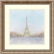 Amanti Art Framed Art Print Eiffel Romance no Couple Turquoise by Marco Fabiano 18 x 18, Frame Gold  (DSW3894398)