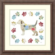 "Amanti Art Framed Art Print Good Dog IV Sq with Border by Courtney Prahl 19""W x 19""H Frame Rustic Wood (DSW3894399)"
