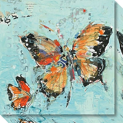 Amanti Art Canvas Art Gallery Wrap Monarch II Light Blue by Kellie Day, 20
