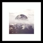 Amanti Art Framed Art Print Reflected Landscape IV  by Laura Marshall 17 x 17 Frame Satin Black  (DSW3898821)