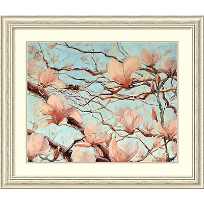 Amanti Art Framed Art Print Outside My Window Floral by Holly Van Hart Size 41
