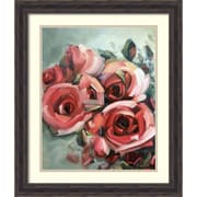 """Amanti Art Framed Art Print Amid Scent of Roses by Holly Van Hart 23""""W x 27""""H, Frame Rustic Pine (DSW3902396)"""