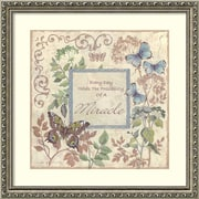 """Amanti Art Framed Art Print Everyday Miracles by Anita Phillips 23""""W x 23""""H, Frame Silver (DSW3902400)"""