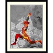 "Amanti Art Framed Art Print Yoga Pose IV by Sisa Jasper 23""W x 29""H, Frame Satin Black (DSW3902549)"