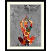 "Amanti Art Framed Art Print Yoga Pose III  by Sisa Jasper 23""W x 29""H, Frame Satin Black (DSW3902550)"