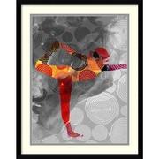 "Amanti Art Framed Art Print Yoga Pose II by Sisa Jasper 23""W x 29""H, Frame Satin Black (DSW3902551)"