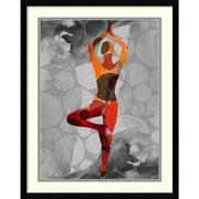 "Amanti Art Framed Art Print Yoga Pose I by Sisa Jasper 23""W x 29""H, Frame Satin Black (DSW3902552)"