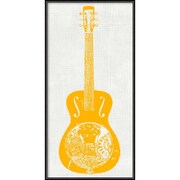 "Amanti Art Framed Art Print Guitar Collector IV by Kevin Inge 12""W x 24""H Frame Matte Black (DSW3902553)"