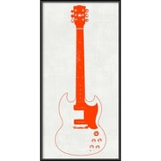 "Amanti Art Framed Art Print Guitar Collector III  by Kevin Inge 12""W x 24""H, Frame Matte Black (DSW3902554)"