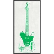 "Amanti Art Framed Art Print Guitar Collector II by Kevin Inge 12""W x 24""H, Frame Matte Black (DSW3902555)"