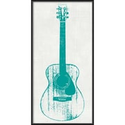 "Amanti Art Framed Art Print Guitar Collector I by Kevin Inge 12""W x 24""H, Frame Matte Black (DSW3902556)"