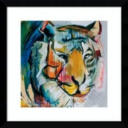 "Amanti Art Framed Art Print Tiger Tiger by Angela Maritz 17""W x 17""H, Satin Black(DSW3902616)"