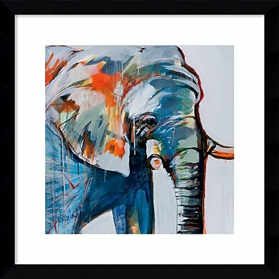 Amanti Art Framed Art Print Mr. Silver Hair (Elephant) by Angela Maritz 17