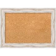 "Amanti Art Small Alexandria White Wash 22""W x 16""H Framed Cork Board (DSW3904538)"