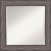 "Amanti Art Wall Mirror Square Country Barnwood 26""W x 26""H Frame Rustic Gray (DSW3907404)"
