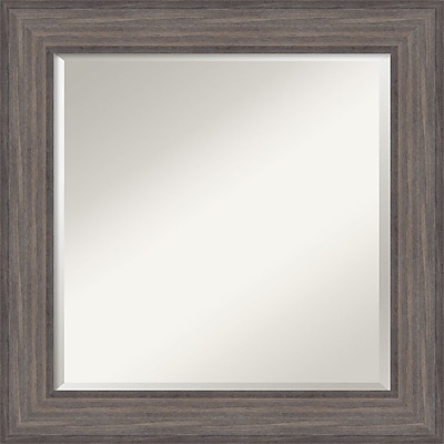 Amanti Art Wall Mirror Square Country Barnwood 26
