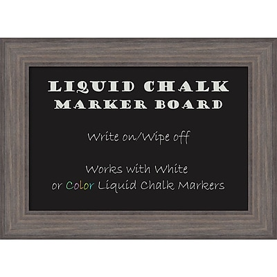Amanti Art Framed Liquid Chalk Marker Board Medium Country Barnwood 30