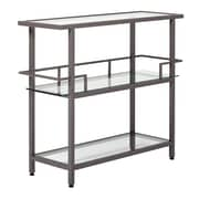 "Studio Designs Home Piloti Modern Glass Bar Pewter 40"" Pewter (71009)"