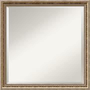 "Amanti Art Wall Mirror Square Fluted Champagne 22""W x 22""H Frame Gold (DSW3907417)"