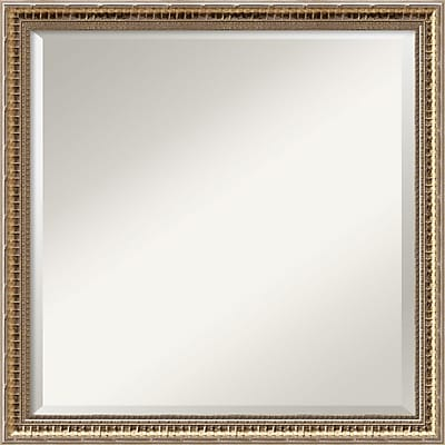Amanti Art Wall Mirror Square Fluted Champagne 22