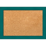 "Amanti Art Small French Teal Rustic 20""W x 14""H Framed Cork Board (DSW3907421)"