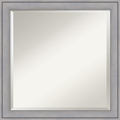 """""Amanti Art Wall Mirror Square Graywash 23""""""""W x 23""""""""H Frame Graywash (DSW3907422)"""""" 24011209"