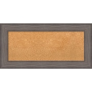 "Amanti Art Panel Country Barnwood 36""W x 18""H Rustic Grey Framed Cork Board (DSW3907430)"