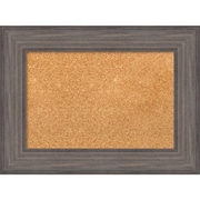 "Amanti Art Small Country Barnwood 24""W x 18""H Framed Cork Board (DSW3907431)"